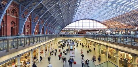 Eurostar Terminal. Image: St Pancras Station.