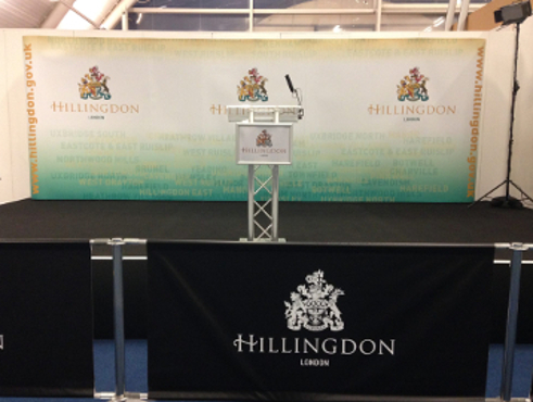 The podium at Uxbridge and South Ruislip