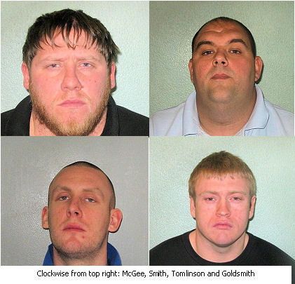 The Baker Street HSBC gang jailed at Blackfriars Crown Court. Image: Met Police