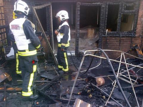 Barbecue fire in Battersea. Image: @LondonFire