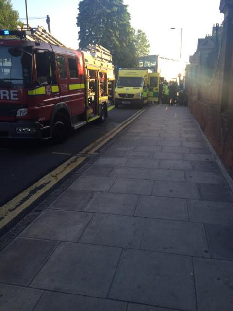 Two double decker buses collide in Homerton, Hackney. Image: @LAS_CycleTeam
