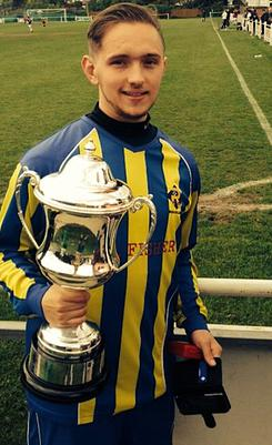 19 year old Daniel Matthews from Bromley who died when a passenger in a road traffic collision. Image: http://www.russellersfc.co.uk/