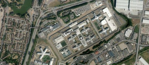 HMP Belmarsh. Image: Google satellite