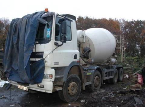 Cement mixer- part of £1 million haul of stolen vehicles and equipment. Image: Met Police