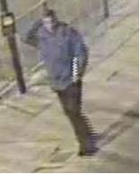 Met Police detectives would like to speak to this man in relation to racist graffiti incident in Southwark. Image: Met Police