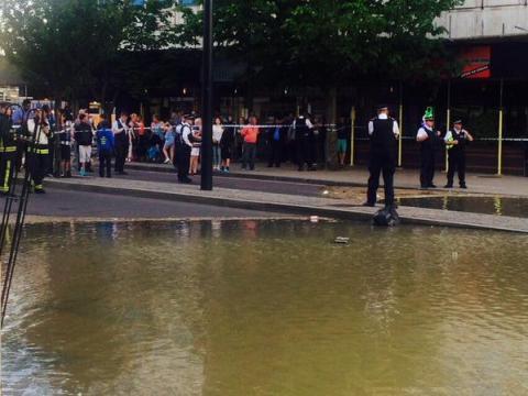 New Malden flooding. Image: @MPSKingston