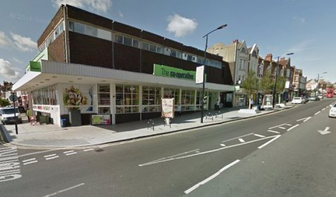 Outside the Coop in High Street, Sydenham- scene of stabbing murder of 18 year old Nathan Murray. Image: Google Street View