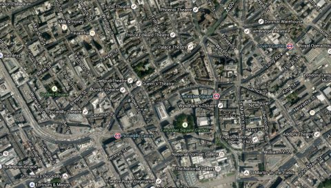 Westminster. Image: Google Satellite.