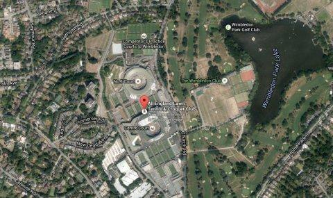 Wimbledon Lawn Tennis Club. Image: Google Satellite.
