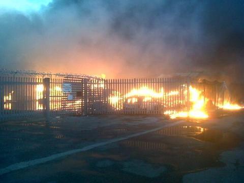 East Hall Lane, Rainham blaze. Image:@LondonFire