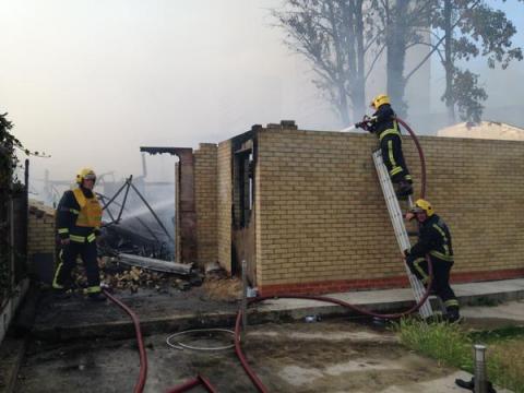Workshop fire in Leytonstone. Image:@LondonFire
