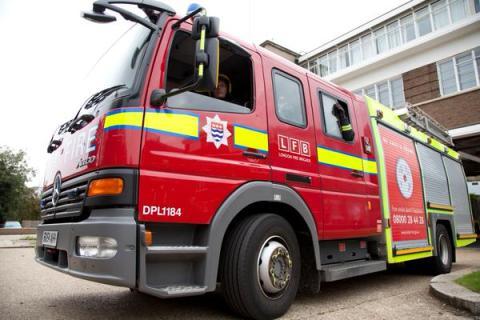 London Fire Brigade Appliance. Image:@LondonFire