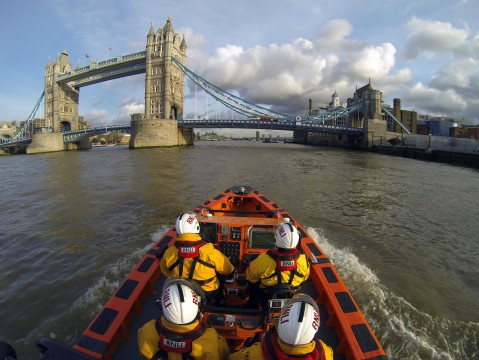 Nude swimmers in Thames spark RNLI London Lifeboat warning during heatwave. Image: RNLI Tower