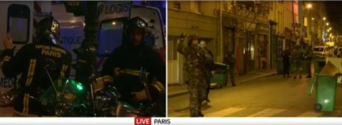 Paris under attack. Image: Live Sky News Feed.