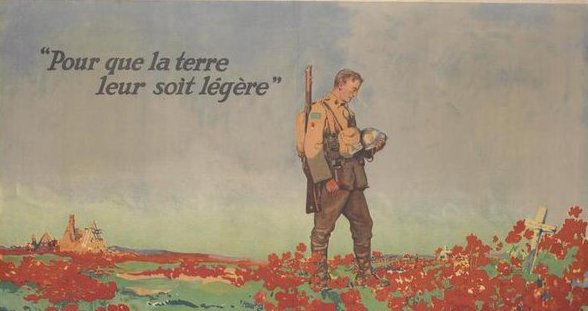 Poster produced in France to remember those killed during the Great War of 1914-18 from the collections of the Imperial War Museum.