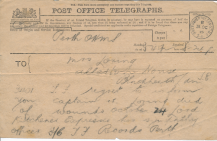 Telegrams on the death of William Loring. Thanks to David Loring, https://williamloring.wordpress.com