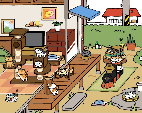A Screenshot of Neko Atsume: Kitty Collector
