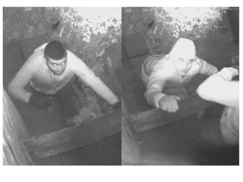 Two burglary suspects caught on CCTV in Ilford. Image: Met Police