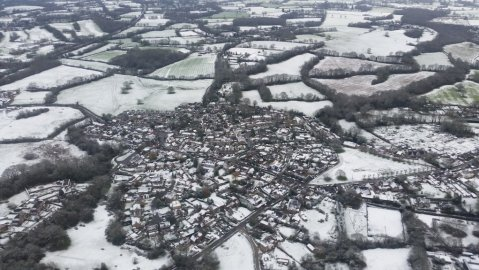 Sevenoaks under dusting of snow. Image: @NPAS_Redhill