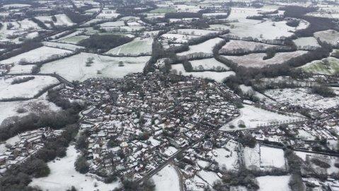 Sevenoaks under dusting of snow. Image: @NPAS_Redhill
