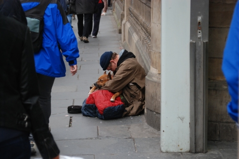 Homelessness in Britain. Image: Benjamin Brock - CC BY-SA 3.0,