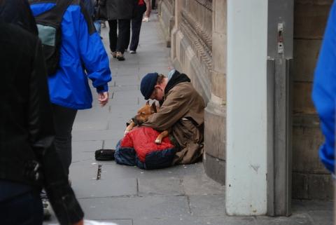 Homelessness in Britain. Image: Benjamin Brock - CC BY-SA 3.0,