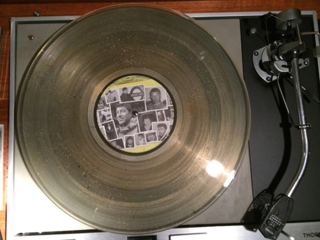 One of the And Vinyly records about to be played. Image courtesy of Jason Leach and andvinyly.com
