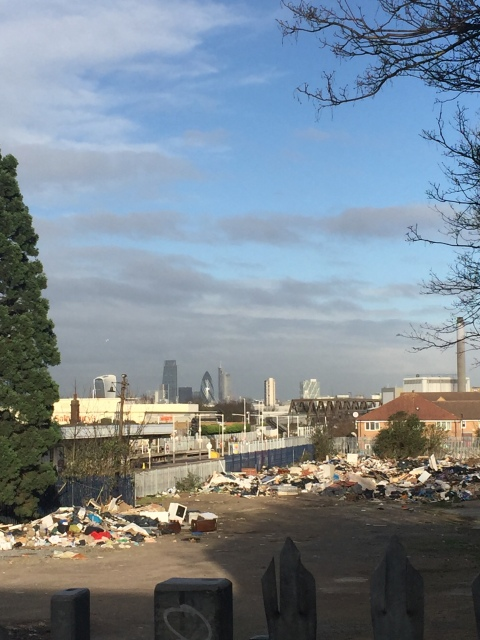 New Cross Gate train station rubbish dump