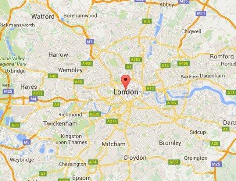 London Google Map.