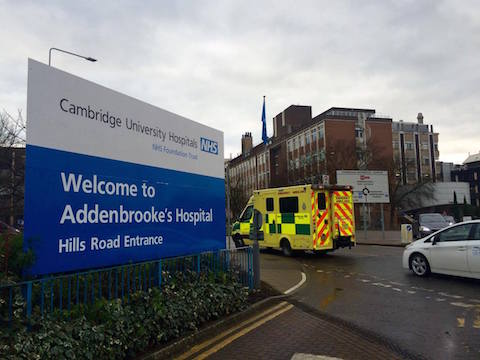 Addenbrookes hospital in Cambridge is one of the best in the world. Pic: Hannah Twiggs