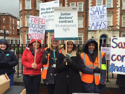 Doctors walked out on Wednesday for a third time this year. Image: Katie Bell.