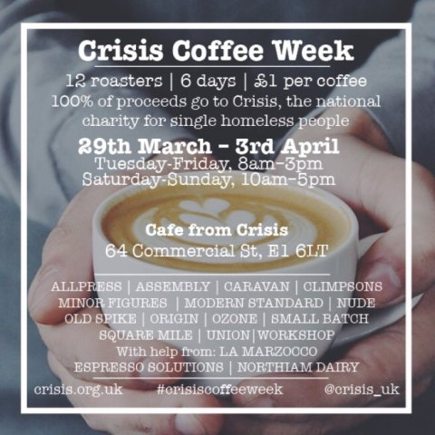 Crisis Coffee Week Flyer Image: www.crisis.org.uk