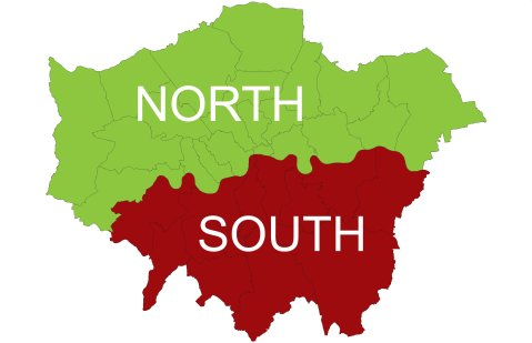 What kind of North/South split is there in London, if any? Image: Wikimedia creative commons.
