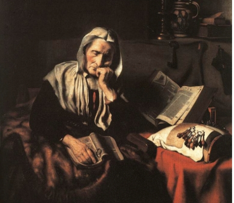 'Old Woman Dozing by Nicolaes Maes 1656. Currently exhibited Royal Museums of Fine Arts of Belgium. Image: Public Domain.