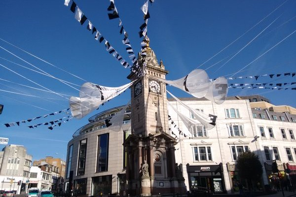 The Clocktower Fanfare; boldly announcing the imminent arrival of our 50th Brighton Festival. Image: @brightfest