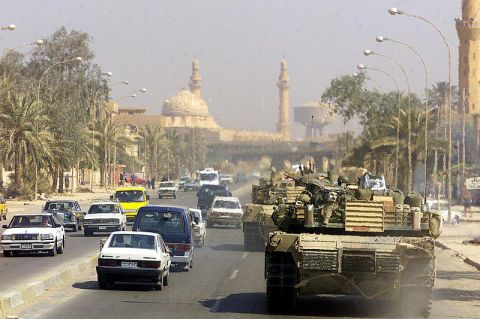US Marine Tank in Baghdad City Image: Wikimedia Commons