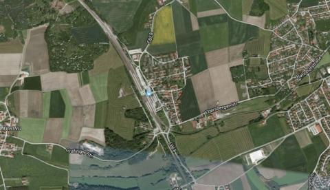 Satellite view of Grafing Station near Munich, Germany. Image: Google Maps.