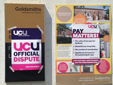 Cut The Rent posters on Goldsmiths Campus. Image: Mariana Des Forges