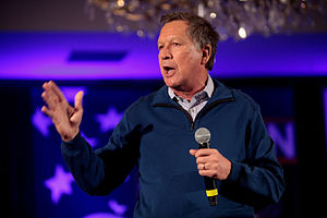 Kasich speaking at a town hall in New Hampshire. Image: Gage Skidmore Wikimedia creative commons