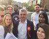Sadiq Khan campaigning in London Mayoral election. Image: @SadiqKhan