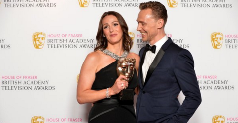 Suranne Jones and Tom Hiddleston had a productive evening. Image: @BAFTA Click through to reach the BAFTA Twitter account.