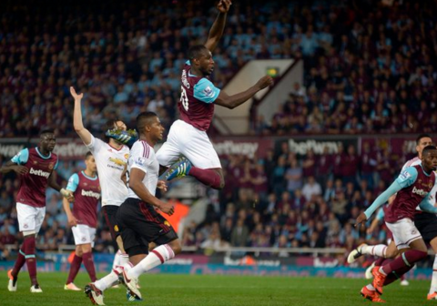 Michail Antonio heads the Hammers into 2-2. Image @whufc_official, click through for West Ham united's Twitter account.