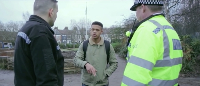 Stop and search dramatisation. Image: Million Youth Media