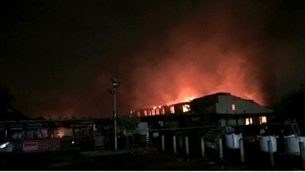 Two storey garden centre ablaze in West Drayton. Image: @LondonFire
