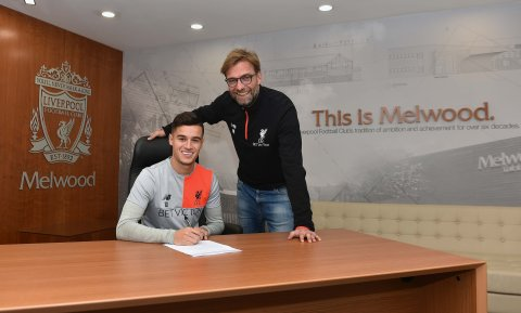 Coutinho signs new deal. Image: @LFC