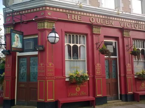 The Queen Vic pub, victim of racist graffiti. Image: Matt Pearson