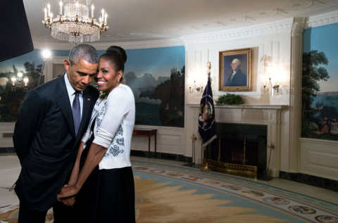 Barack and Michelle. Image @BarackObama