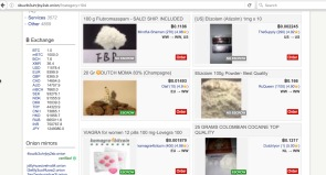 Illicit drugs for sale on Dream Market. Image: Arlie Adlington