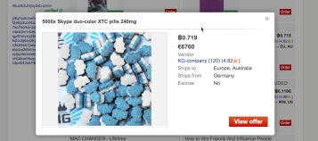 Ecstacy pills for sale on Dream Market. Image: Arlie Adlington